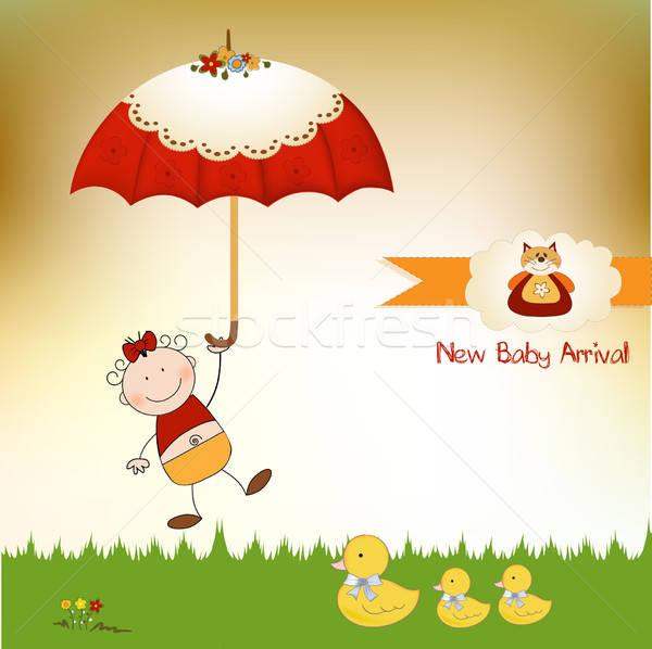 new baby girl arrived Stock photo © balasoiu