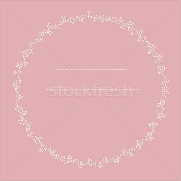 delicate floral frame Stock photo © balasoiu