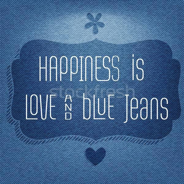 Bonheur amour citer typographique vecteur Photo stock © balasoiu