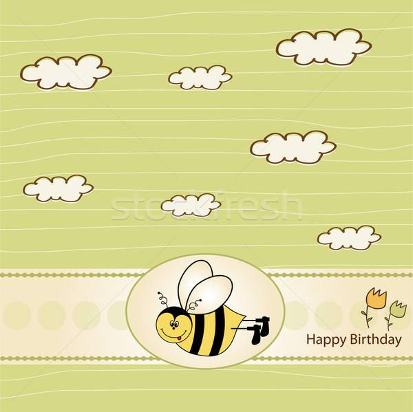 歳の誕生日 グリーティングカード 蜂 愛 背景 楽しい ストックフォト © balasoiu