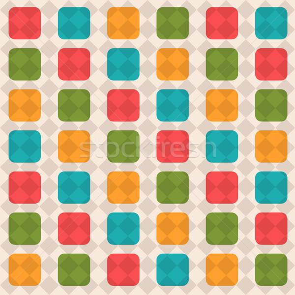 Senza soluzione di continuità disegno geometrico vettore formato sfondo colore Foto d'archivio © balasoiu