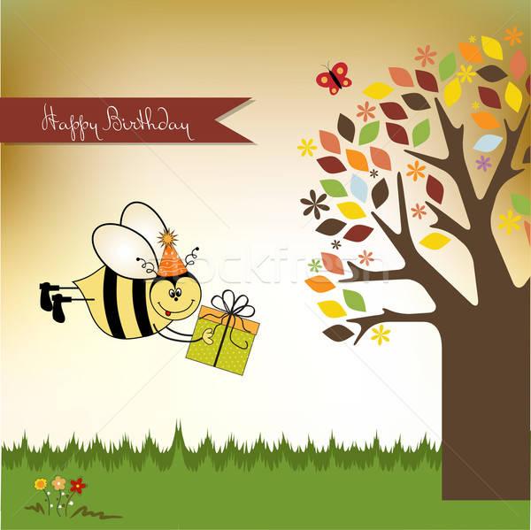 Bee meisje baby liefde gelukkig Stockfoto © balasoiu