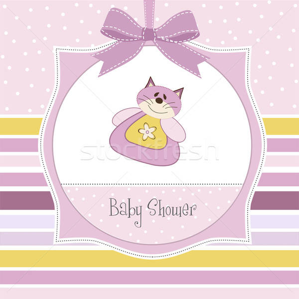 new baby girl announcement card Stock photo © balasoiu