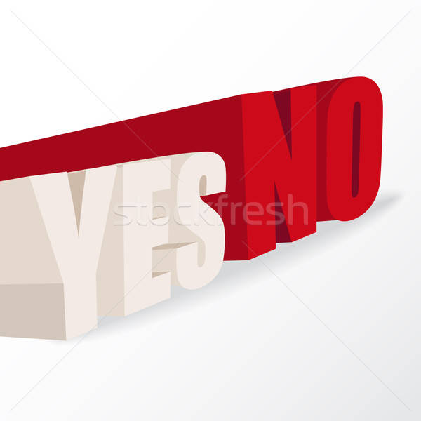the words 'yes' and 'no',  conceptual illustration for a decisio Stock photo © balasoiu