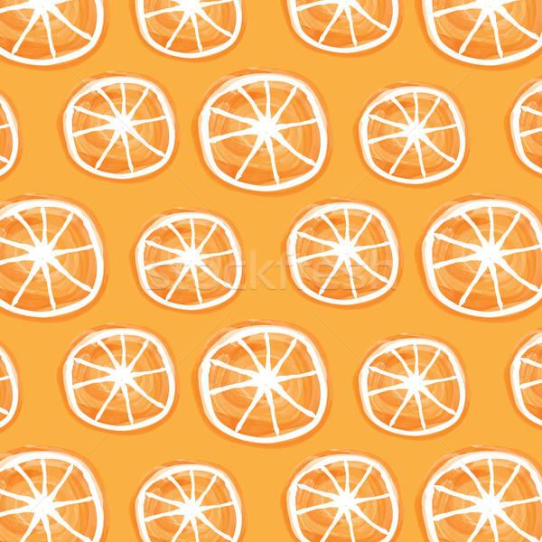 Aquarel sinaasappelen vector formaat textuur voedsel Stockfoto © balasoiu