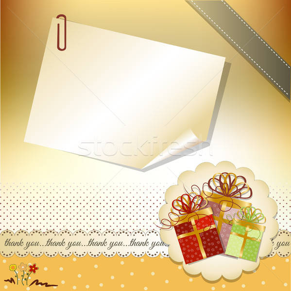 Dank u kaart vakantie vreugde post evenement Stockfoto © balasoiu
