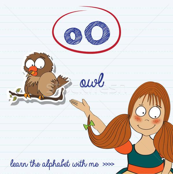 alphabet worksheet of the letter o Stock photo © balasoiu