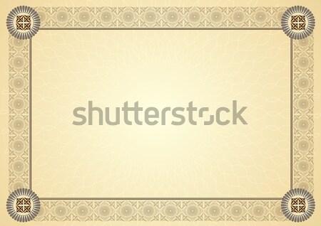 証書 証明書 ビジネス フレーム 金融 背景 ストックフォト © balasoiu