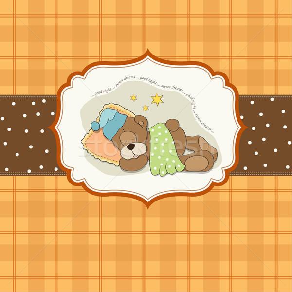Stockfoto: Cute · teddybeer · baby · liefde · hart · droom