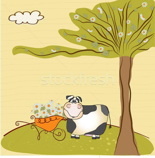 С Днем Рождения весны аннотация природы лист фон Сток-фото © balasoiu