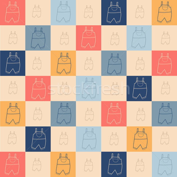 Childish seamless pattern Stock photo © balasoiu