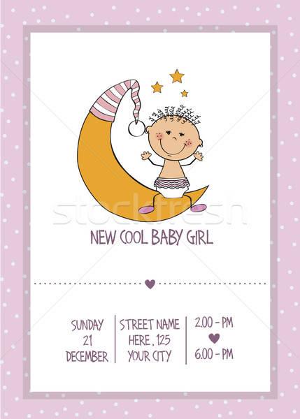 baby girl shower card Stock photo © balasoiu