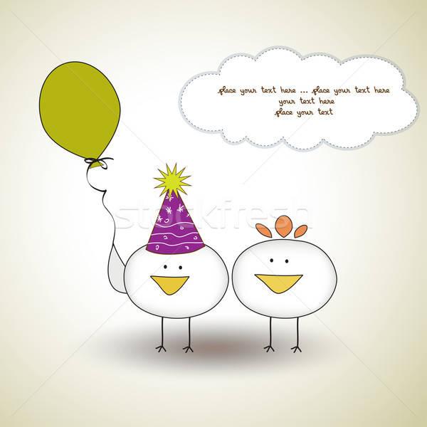 funny birthday party greeting card Stock photo © balasoiu