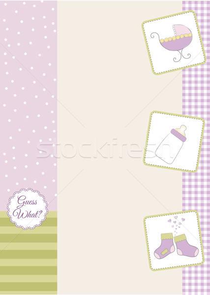 赤ちゃん シャワー 発表 食品 愛 幸せ ストックフォト © balasoiu