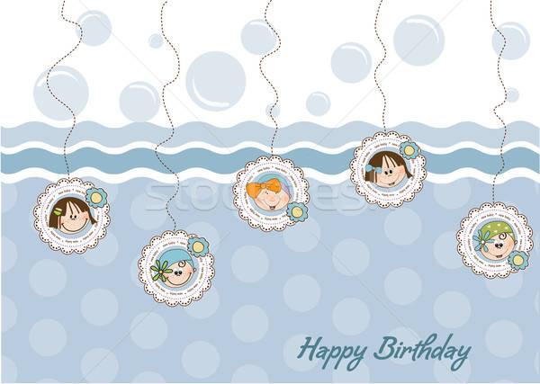 お誕生日おめでとうございます グリーティングカード 5 女の子 赤ちゃん 愛 ストックフォト © balasoiu