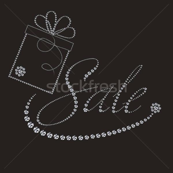 luxury label with gift box Stock photo © balasoiu