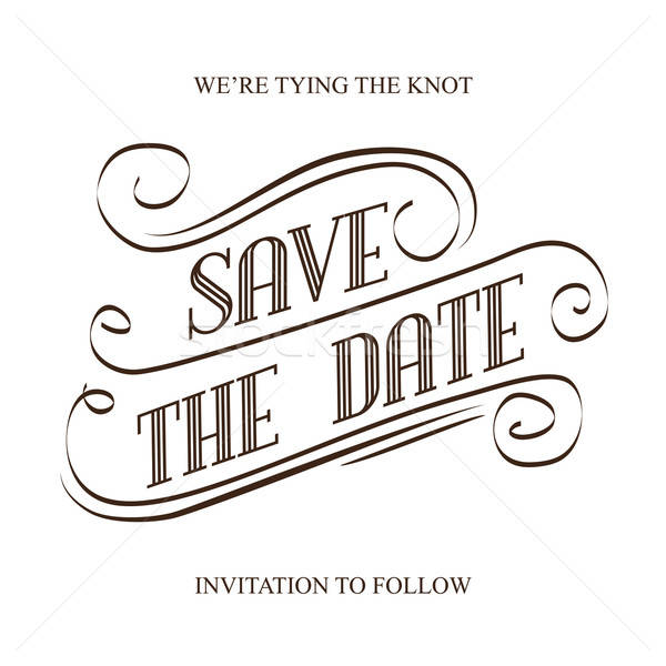 Save the Date Stock photo © balasoiu