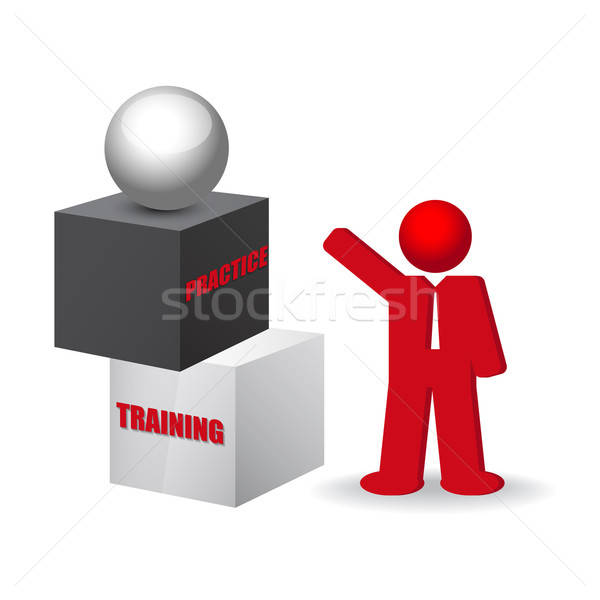 business concept with words  training and practice Stock photo © balasoiu