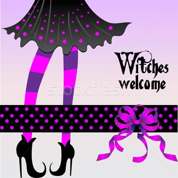 Halloween greeting card Stock photo © balasoiu