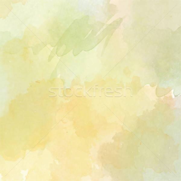 Stock photo: Abstract vector hand-drawn watercolor background