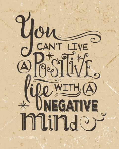 Retro motivierend positive zitieren Vektor Design Stock foto © balasoiu