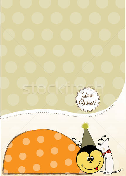 happy birthday card with ladybug Stock photo © balasoiu