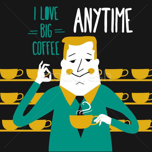 Coffee break, businessman drinking  coffee Stock photo © balasoiu