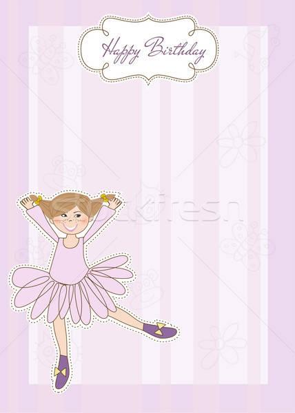 Anniversaire carte de vœux enfant cheveux beauté Kid Photo stock © balasoiu