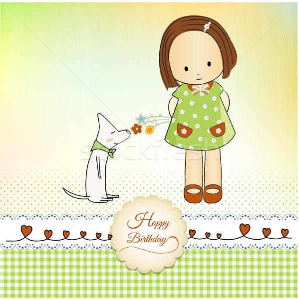 Stock photo: Birthday greeting card