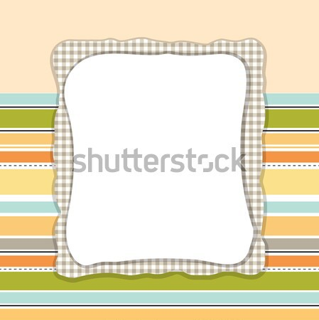 Stock photo: Template frame design for greeting card