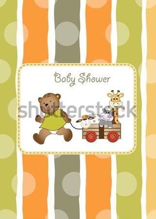 смешные ребенка душу карт девушки фон Сток-фото © balasoiu