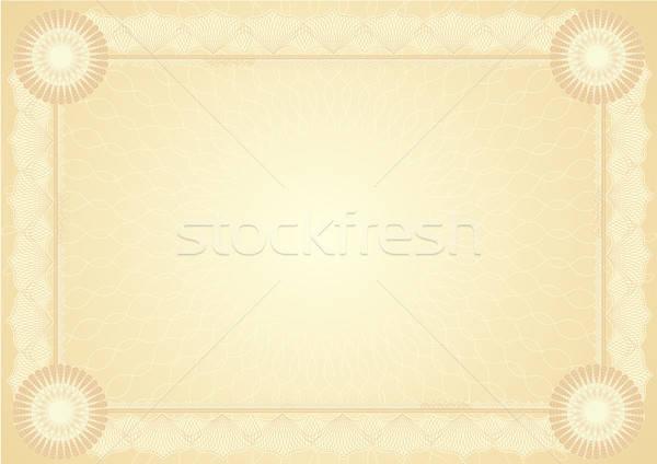 Diploma sertifika iş çerçeve finanse arka Stok fotoğraf © balasoiu