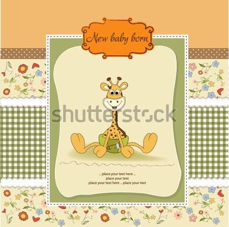 Baby doccia carta giocattoli compleanno sfondo Foto d'archivio © balasoiu