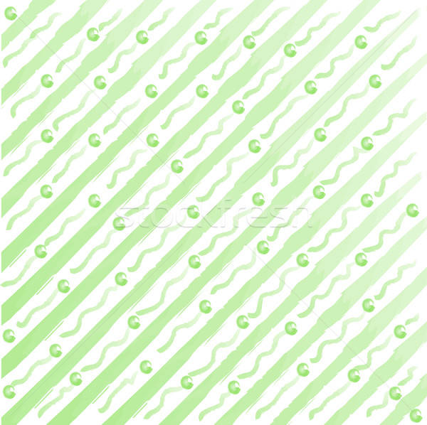 watercolor stripes and dots background Stock photo © balasoiu