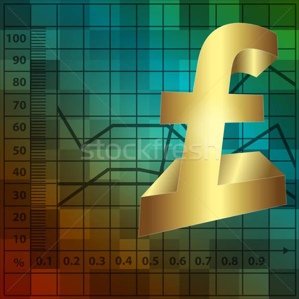 financial background with 3d lira sign Stock photo © balasoiu