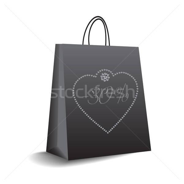 Panier vecteur format affaires signe boîte Photo stock © balasoiu