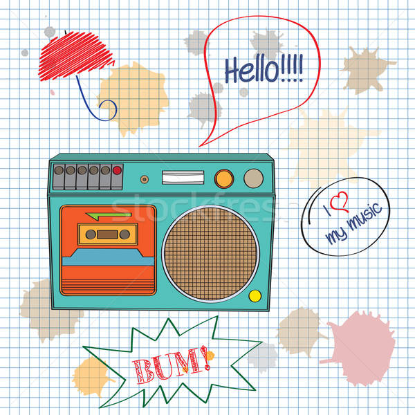 Musical retro textuur abstract achtergrond radio Stockfoto © balasoiu