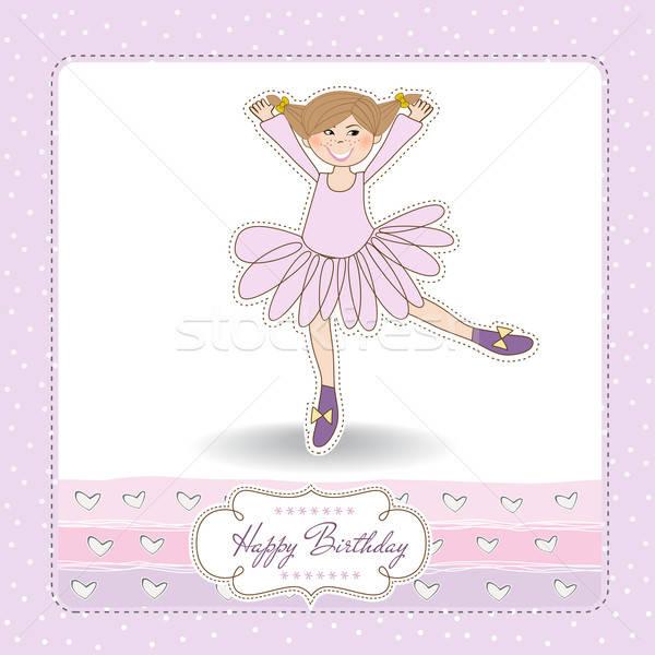 Verjaardag wenskaart kind haren schoonheid kid Stockfoto © balasoiu