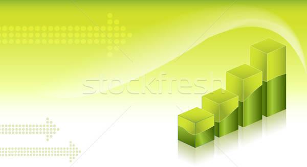 Financieros pared fondo verde financiar Foto stock © balasoiu