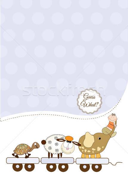 настраиваемый ребенка карт девушки любви счастливым Сток-фото © balasoiu