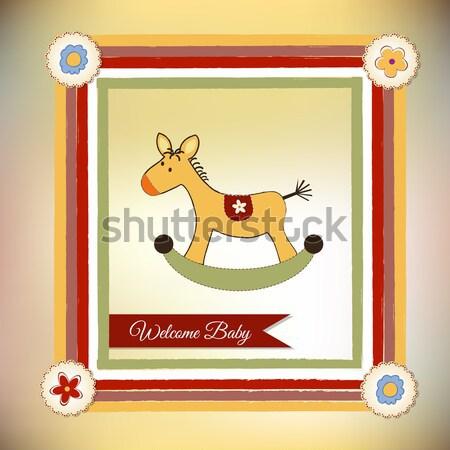 Bebek duş kart oyuncaklar köpek sevmek Stok fotoğraf © balasoiu