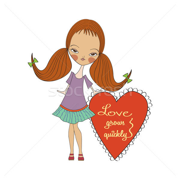 pretty young girl in love Stock photo © balasoiu