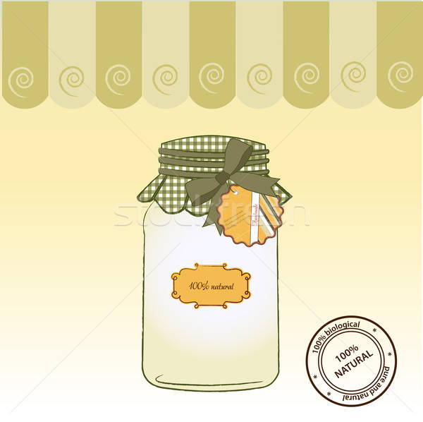 pure biological food jar Stock photo © balasoiu