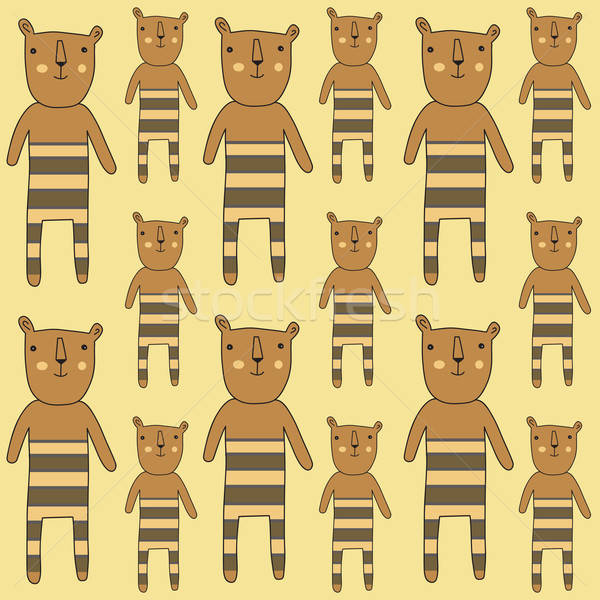 Stock photo: seamless pattern with bears