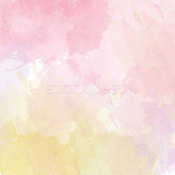 抽象的な ベクトル 水彩画 カラフル テンプレート 場所 ストックフォト © balasoiu