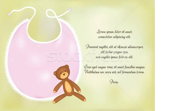 baby girl shower announcement Stock photo © balasoiu