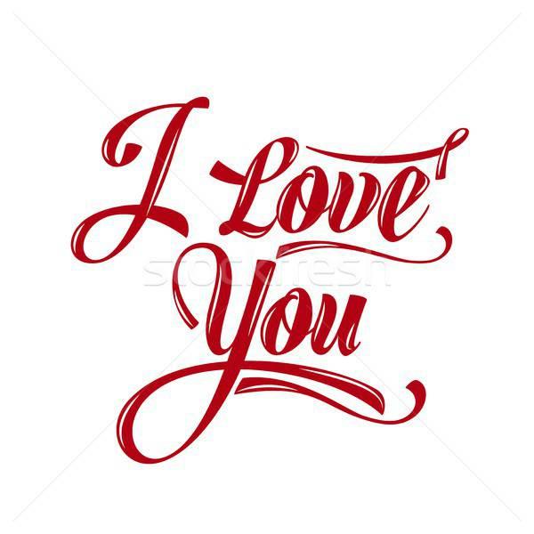 Calligraphic  Writing 'i love you' Stock photo © balasoiu