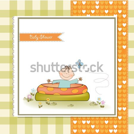 funny shower card Stock photo © balasoiu