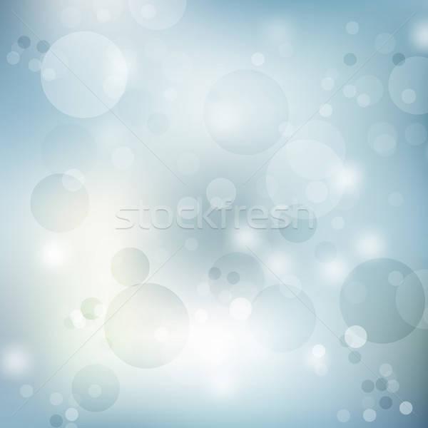 Azul resumen borroso fondos luz noche Foto stock © balasoiu