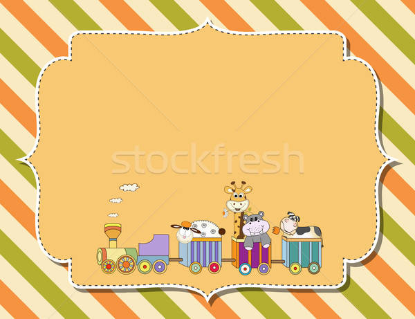 customizable childish background Stock photo © balasoiu